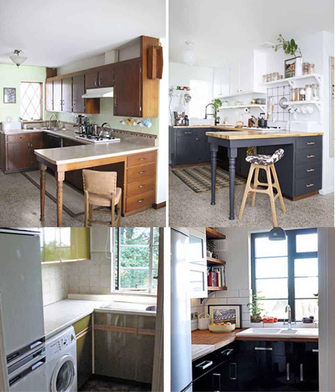 Контрасты в трансформациях кухонь интересные перевоплощения лухонь идеи дизайна кухни