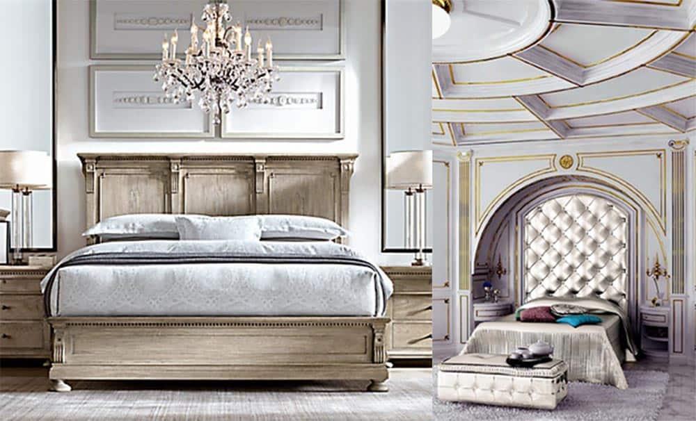 Кровати в стиле классицизм и неоклассицизм интерьер спальни 2018