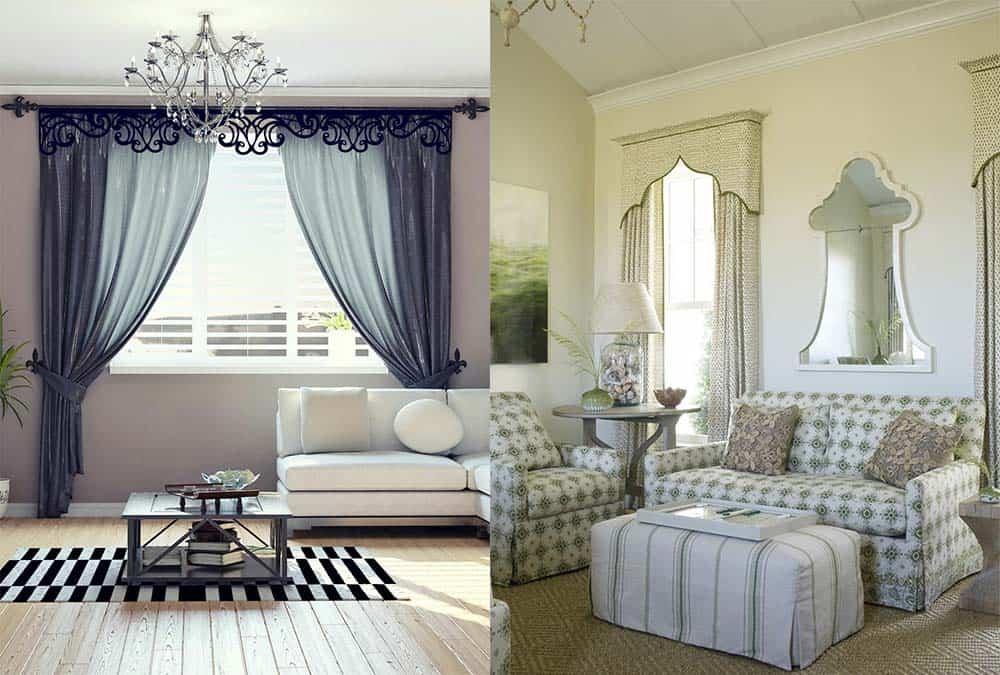 Интерьер и дизайн штор в гостиной Красивые и современные 13