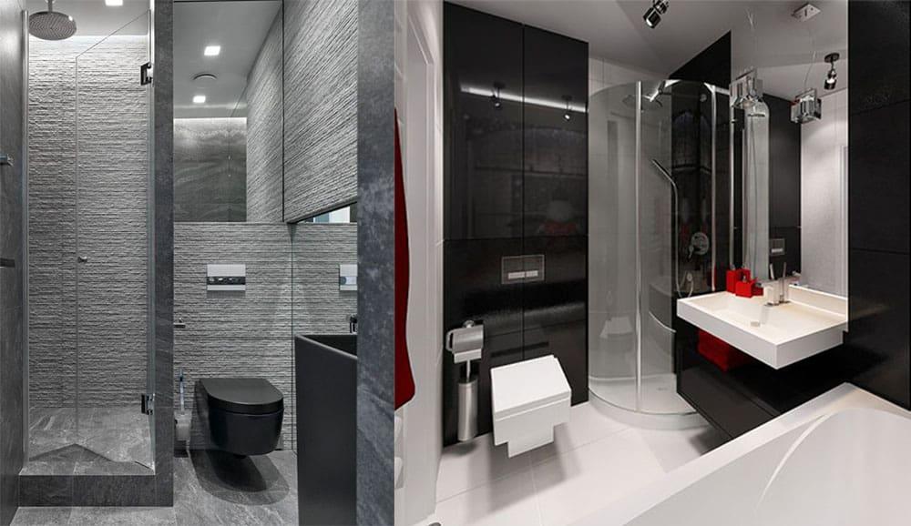 Маленькая совмещенная ванная с душевой кабиной Дизайн ванной комнаты с туалетом 2018