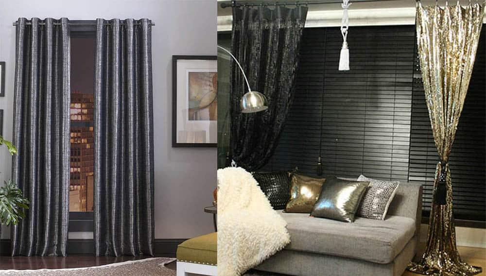 Оттенки цвета металлик интересный переливаюшийся эффект шторы в гостиную