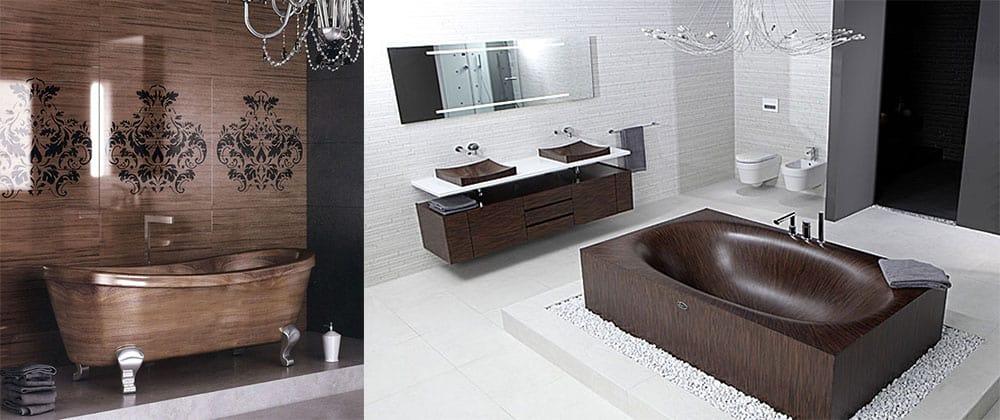 Модная сантехника под дерево Дизайн ванной комнаты с туалетом 2018
