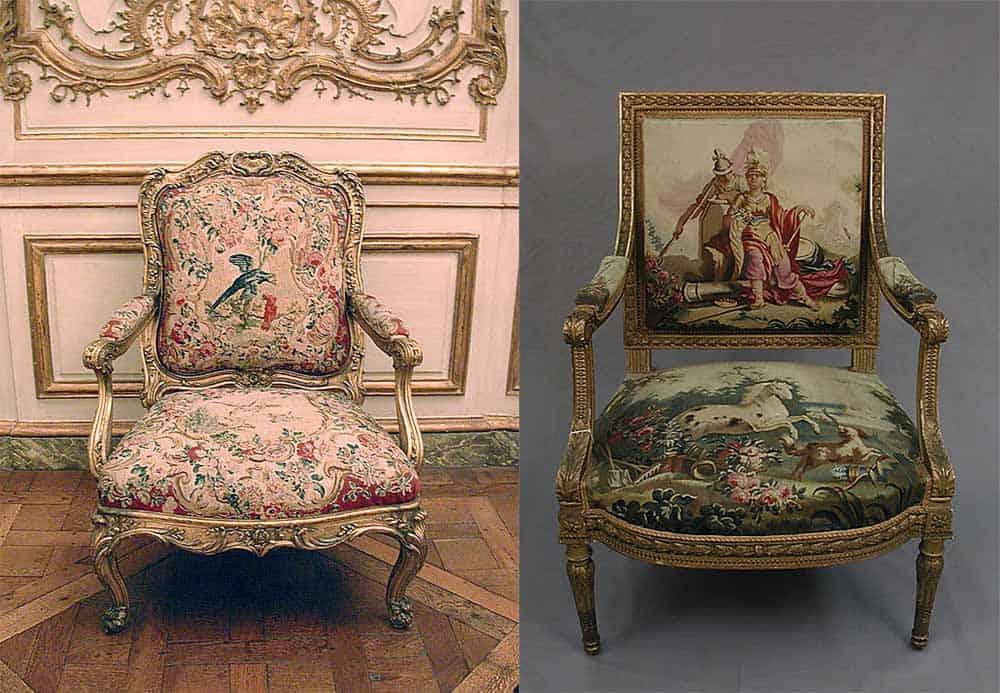 Подлинные образцы мягкой мебели эпохи классицизма интерьер спальни 2018