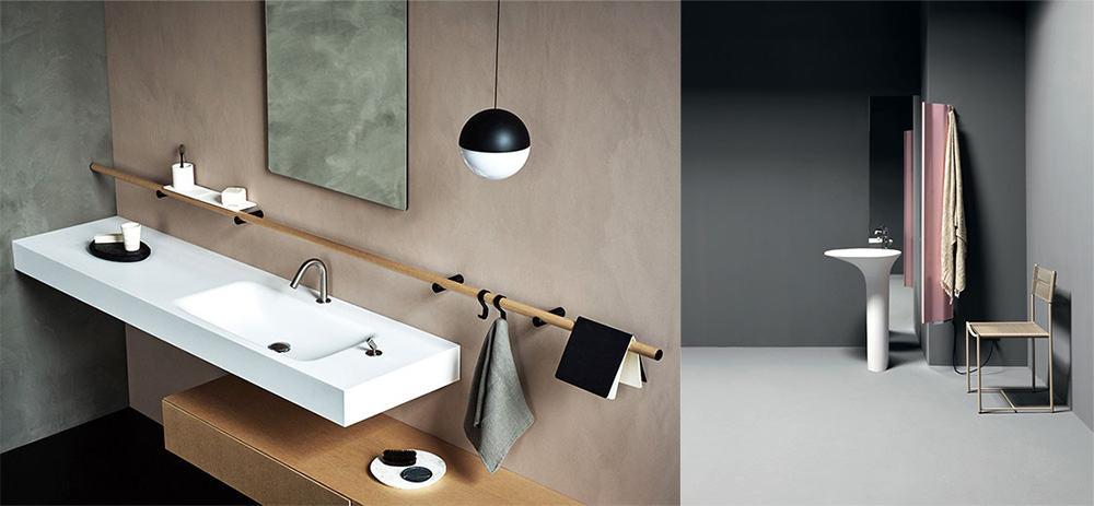 Оттенки серого в оформлении ванной Идеи интерьера ванной