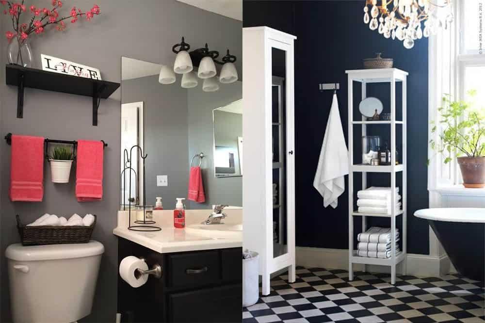 Полотенца и аксессуары в дизайне ванной дизайн совмещенной ванной