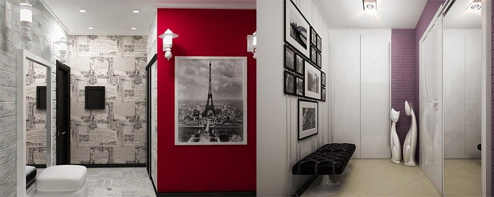Красивый дизайн прихожей для однокомнатной квартиры Дизайн однокомнатной квартиры 2018