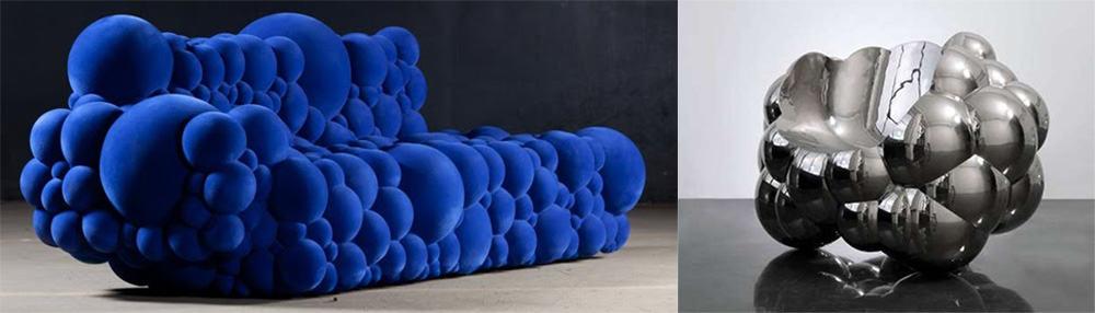 Пузырьки прекрасное ощущение невесомости в дизайне мебели модная мебель