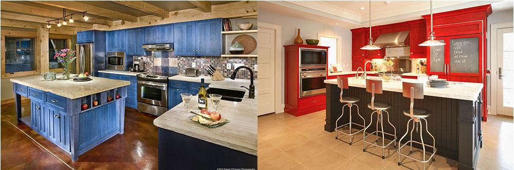 Расположение холодильника среди углового кухонного гарнитура с прямым углом идеи кухни 2018