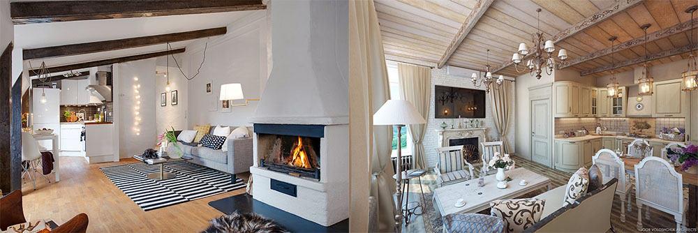 Скандинавский стиль и стиль прованс интерьер квартиры студии