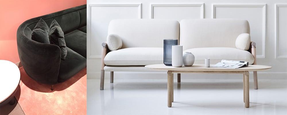 Скругленные формы мебели скругленные углы модная мебель