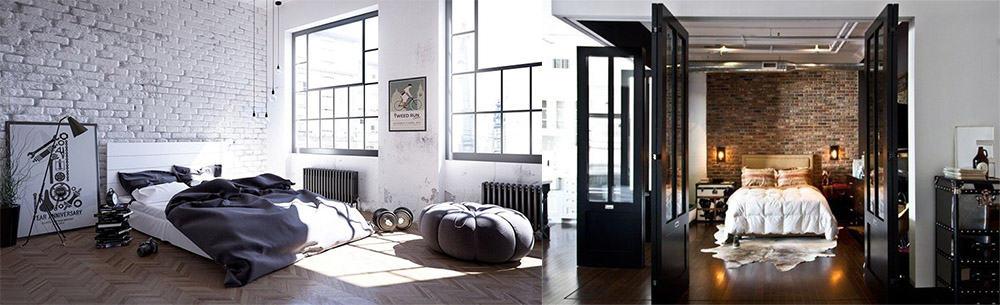 Спальня в стиле лофт сочетание грубости и мягкости лофт в интерьере