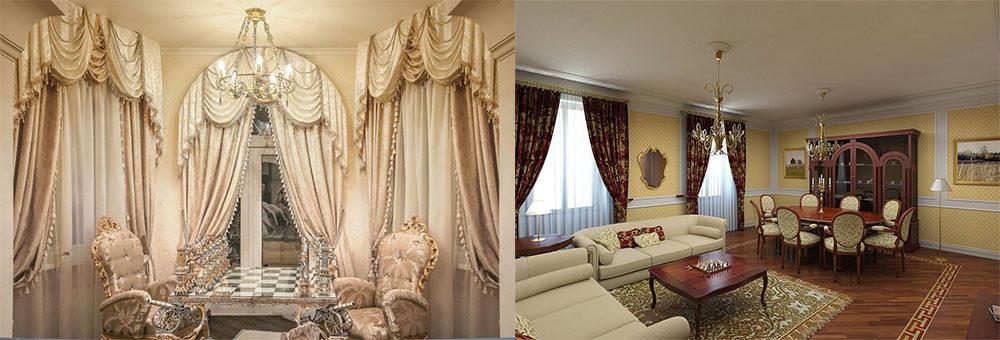 Стиль ренессанс для подбора штор шторы в гостиную