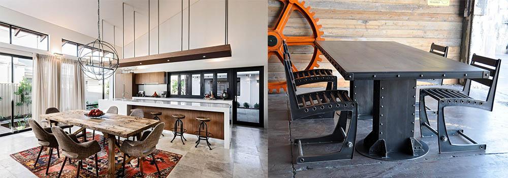 Столовая в стиле лофт обитель необыкновенных столов лофт в интерьере