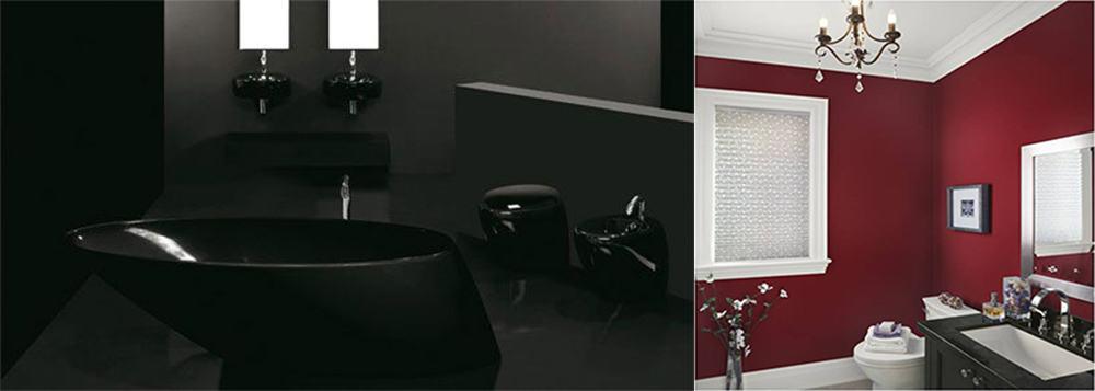 Темные цвета в прекрасном оформлении Идеи интерьера ванной