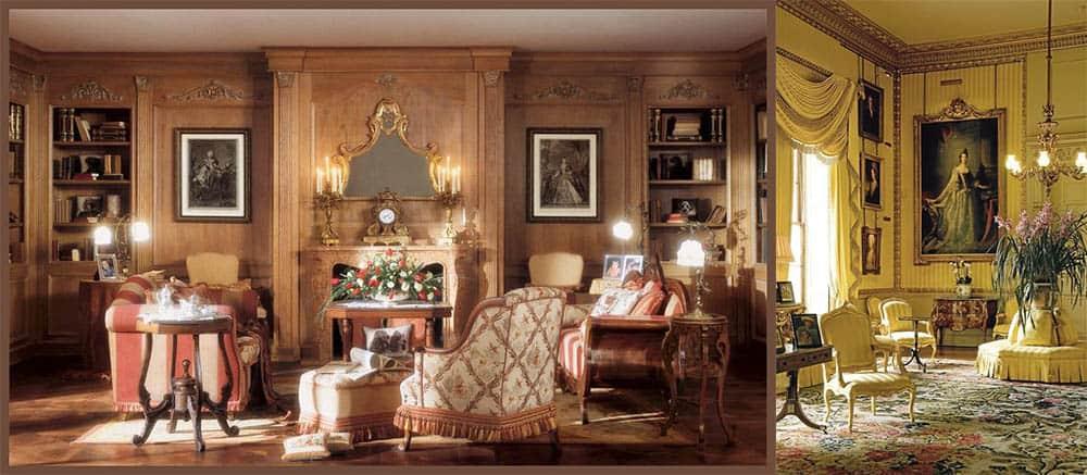 Теплые желтоватые оттенки в классицизме классический стиль в интерьере