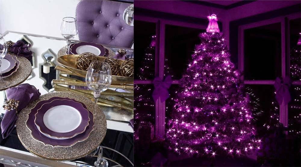 Ультрафиолетовый для создания новогоднего интерьера в 2018 цвет 2018 года согласно Пантон новогодний декор 2018