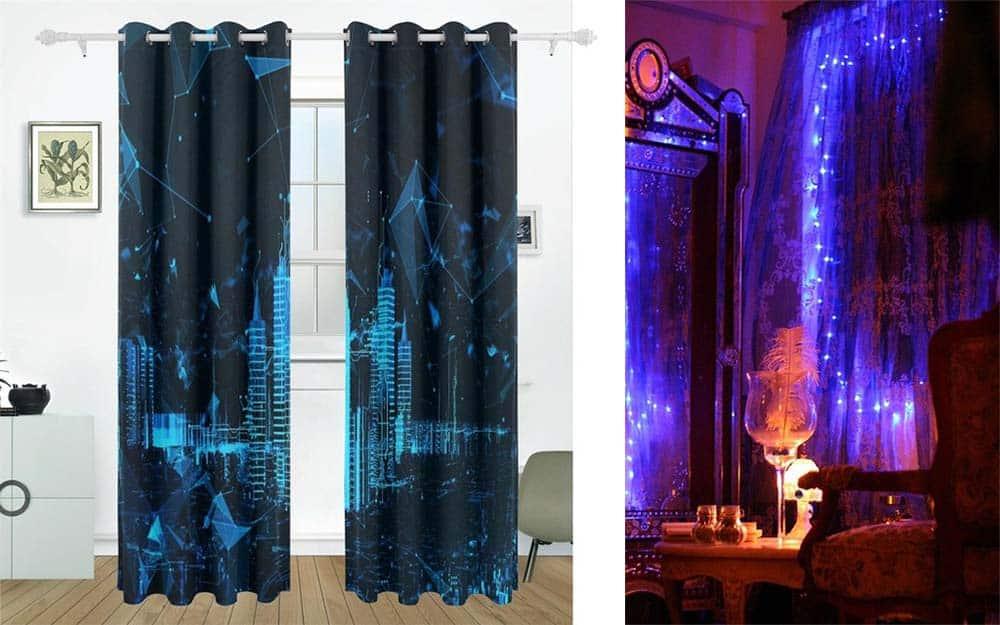 Футуристические шторы и шторы с подсветкой дизайн штор 2018