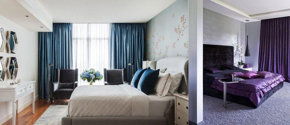 Интерьер и дизайн штор в гостиной Красивые и современные 74