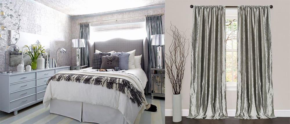 Шторы цвета металлик шторы для спальни 2018