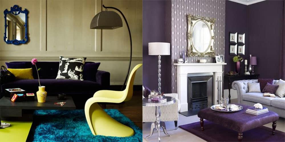 Цветовые контрасты для живой и сочной гостиной Современный дизайн гостиной 2018