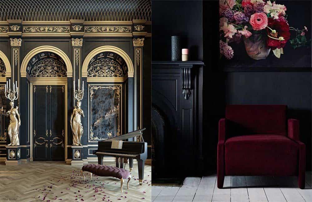 Черный цвет в классическом интерьере классический стиль в интерьере