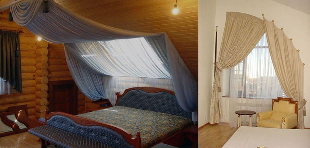 Шторы для окон мансардных спален современный дизайн штор