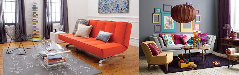 Яркая однотонная мебель для хрущевки Дизайн квартиры хрущевки 2018