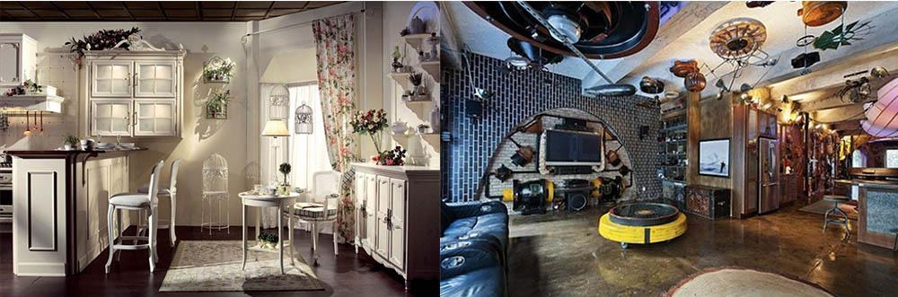 Яркие стили для маленькой и большой кухни гостиной интерьер кухни гостиной