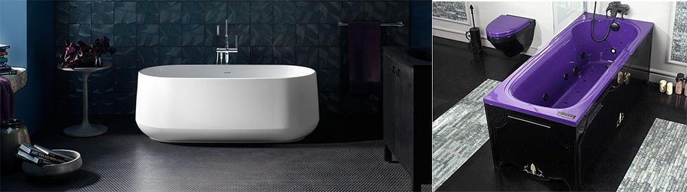 Белые ванны правила сочетания с отделкой и яркие необычные цветовые решения ванн Ванна 2018