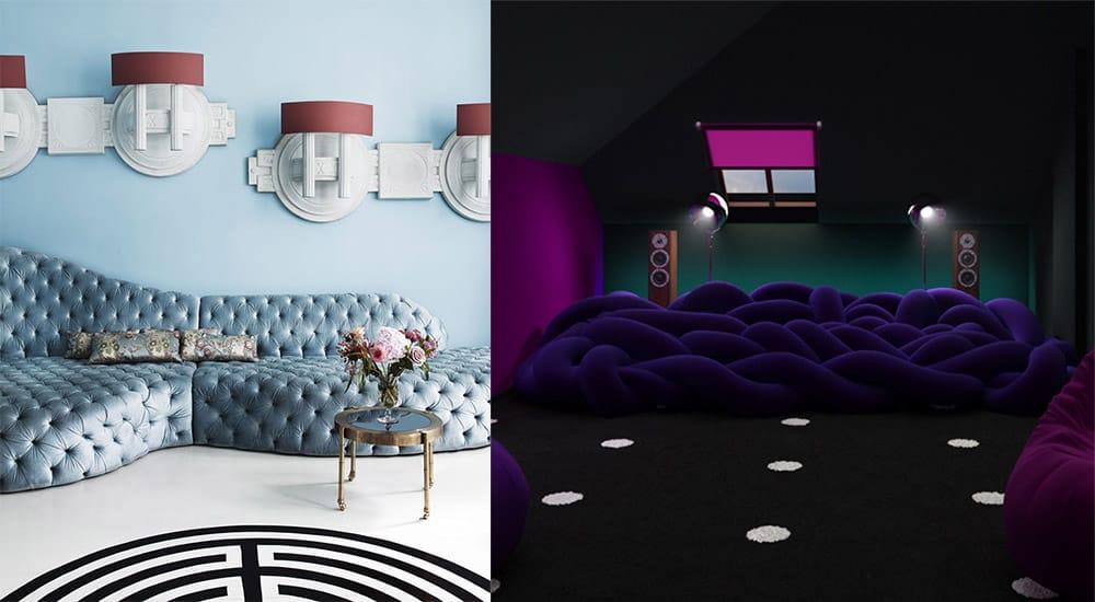 Большой диван главный тренд мягкой мебели Современный интерьер 2018