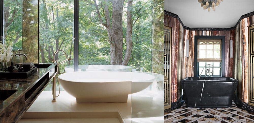 Трендовые решения модные сочетания ванн с отделкой и стили ванн Ванна 2018