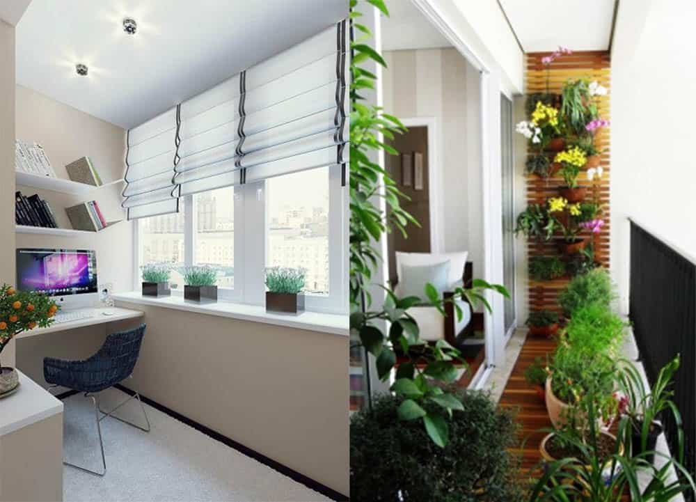 Варианты для маленького балкона домашний офис и оранжерея отличное место на балконе Балкон 2018