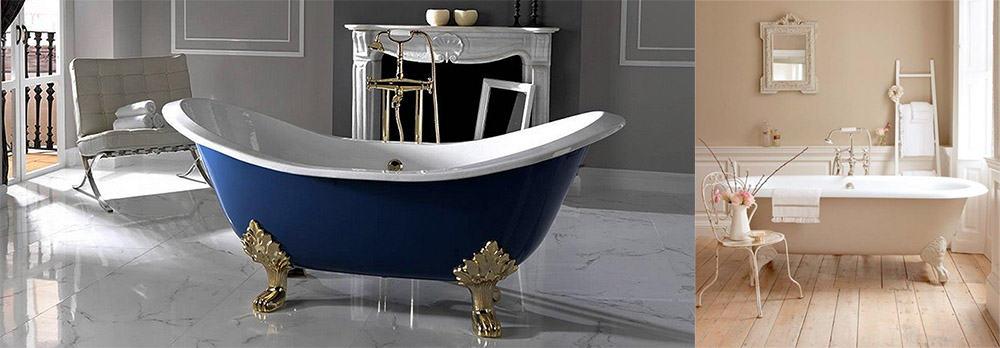 Винтажная ванна на ножках стильное решение для современной ванны Дизайн ванны 2018