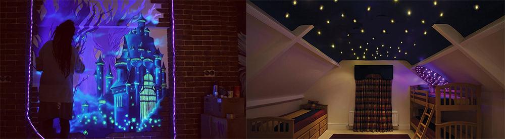 Декоративное освещение потолка и стен альтернативными способами Освещение 2018