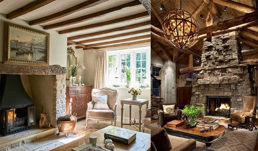 Деревенские стили кантри рустик прованс для безмятежной и теплой атмосферы в доме Дизайн частного дома 2018