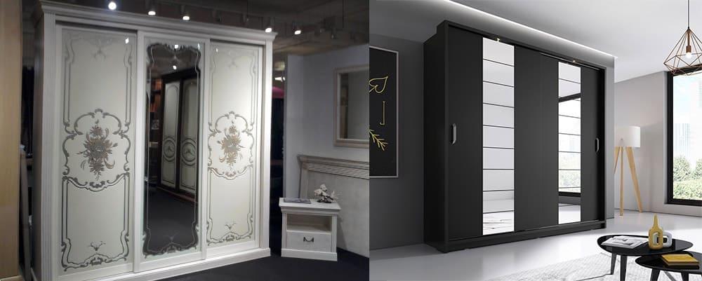 Зеркальные вставки - декоративные и функциональные вставки для шкафов в античном или современном стиле Шкаф купе 2018