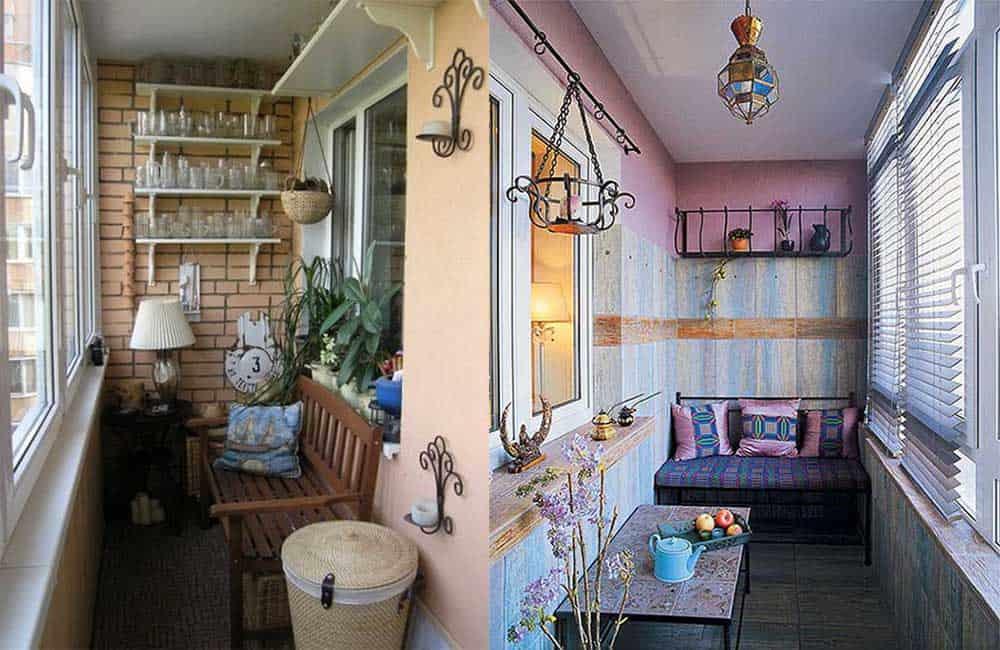 Кантри и прованс деревенские стили для прекрасных балконов Балкон 2018