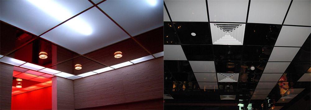 Кассетные потолки легкость установки светильников кеадратные секции Потолки 2018