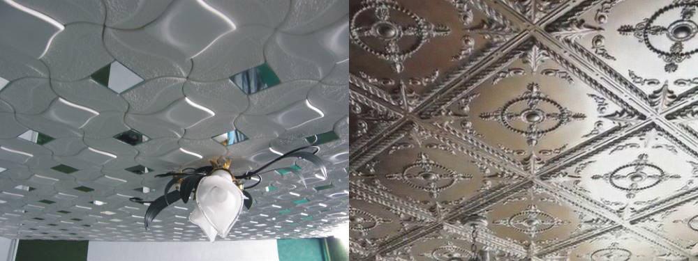 Клеевые плитки легкий способ создания декоративного потолка Потолки 2018