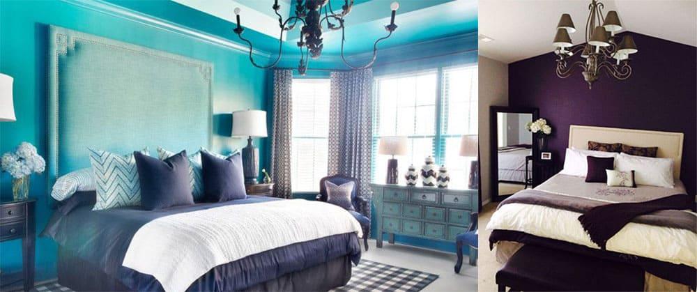 Контрастный текстиль для спальни интересные варианты покрывал Интерьер спальни 2018