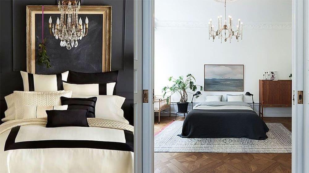Кровати без изголовья акцент на подушках мягкость дизайна Дизайн спальни 2018