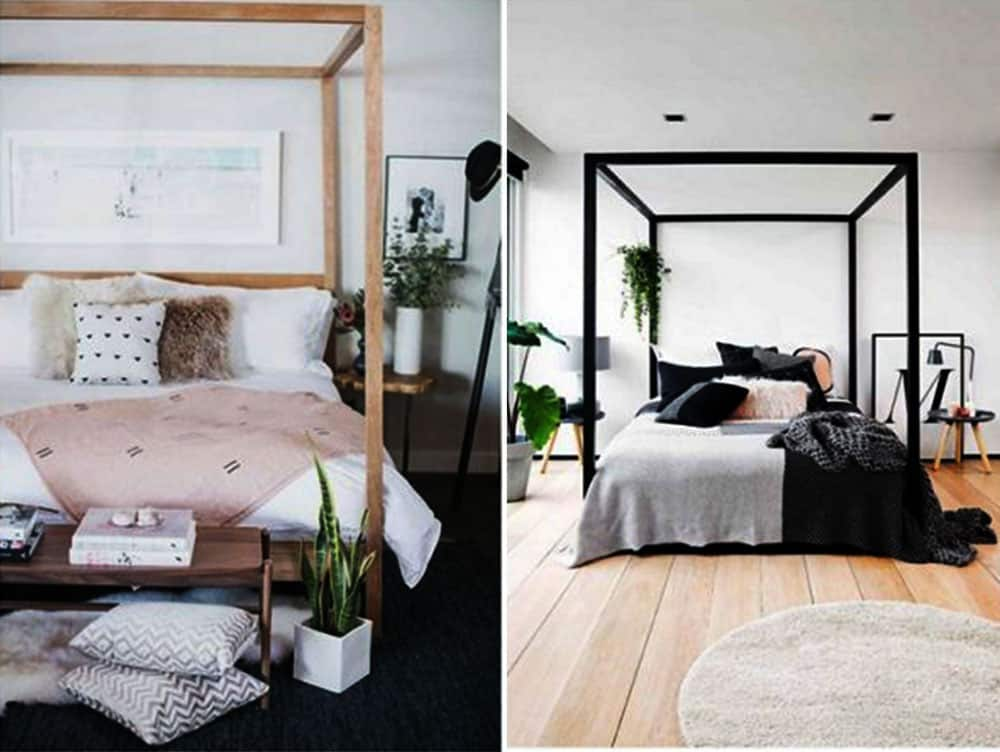 Кровати с балдахином современные варианты в колониальном стиле Дизайн спальни 2018