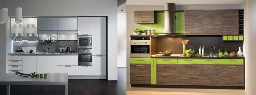 Линейный гарнитур для маленьких кухонь кухонная мебель в один ряд Кухонный гарнитур 2018