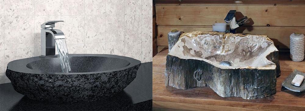 Модные раковины в стиле эко из камня интерьер дома 2018