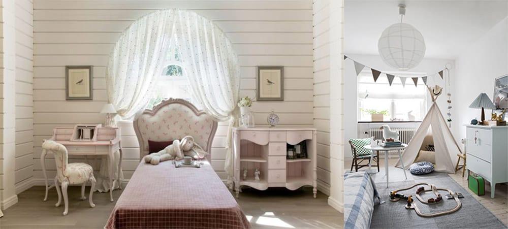 Монохромность в детской комнате интересные решения в стиле прованс и сканди для детской Дизайн квартир 2018