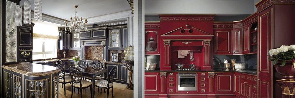 Насыщенные темные оттенки элегантные темные Классические кухни 2018