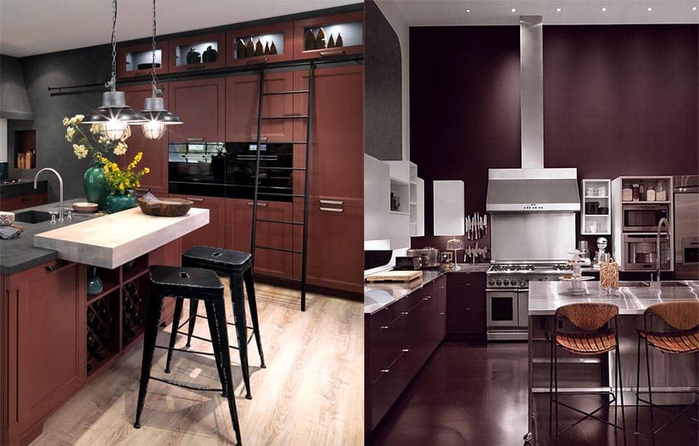 Насыщенные цвета на кухне отличный яркий тренд интерьер дома 2018