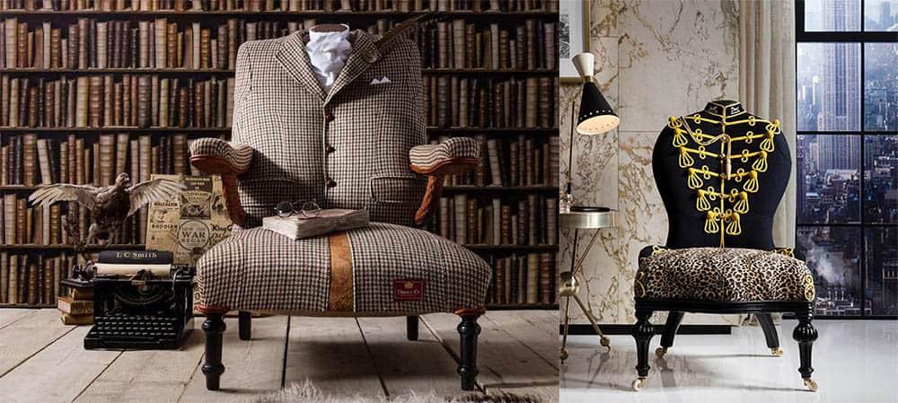 Одетая мебель, одетые кресла и стулья от бренда RhubarbLondon - супер-тренд года! Интерьер 2018