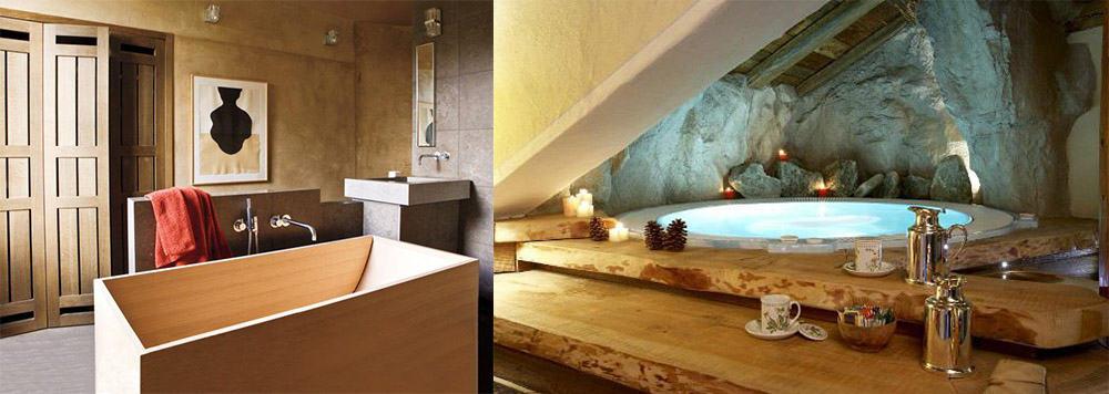 Отделка ванной под дерево декор Дизайн ванны 2018