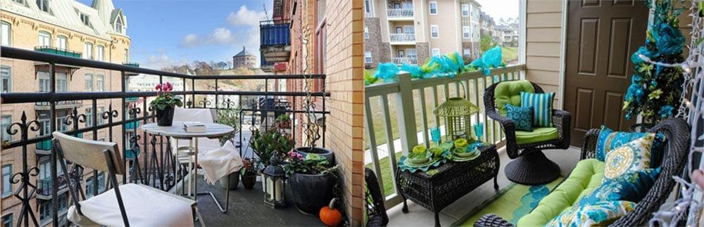 Открытый балкон красивые идеи со столовой зоной и зоной отдыха дизайн балкона 2018